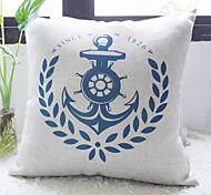 Blue Anchor clássico Chamando para a Paz decorativa fronha