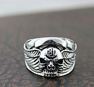 Z&X®  Vintage Silver Alloy Skull Men's Statement Rings(1 Pc)