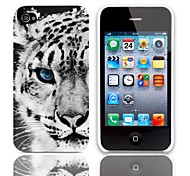 Tiger Pattern Hard Case with 3-Pack Screen Protectors for iPhone 4/4S