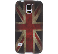 Retro UK Flag Pattern TPU Soft Protective Back Case Cover for Samsung Galaxy S5 I9600