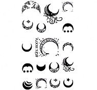 5 Stück Mond Wasserdicht Tattoo (10,5 cm * 20,5 cm)