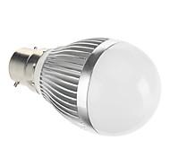 B22 3 W COB 167 LM Warm White Globe Bulbs AC 85-265 V