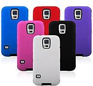 Robot silicone e del PVC posteriore per Samsung Galaxy S5 i9600 (colori assortiti)
