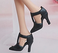 Barbie Doll Black Office High-heeled Shoes