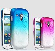 Waterdrop del color del gradiente caja dura transparente PC para Samsung Galaxy S III Mini I8190 I8190N (colores surtidos)