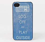 Log Off and Play Outside Protective Back Case for iPhone 4/4S