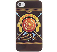 European Retro Axe and Arrow and Shield Pattern ABS Back Case for iPhone 4/4S