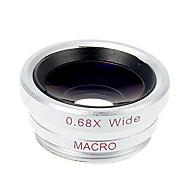 Universal Magnet Wide Angle + Macro Lens with Clip for Smartphone and Tabs