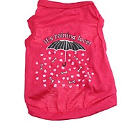 Lovely Umbrella Pattern 100% Cotton vest for Pets Dogs (Assorted Sizes)