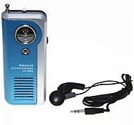 DEKKO DK-8809 Sports Mini Auto Scan FM Radio Speaker with Stereo Earphone Blue