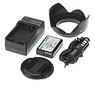 ismartdigi Kamera-Akku 860mAh + Auto-Ladegerät 58 mm Objektivdeckel + Blende für Canon küssen x50 t3 eos 1100d