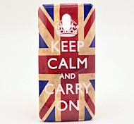 UK National Flag Keep Calm and Carry on Pattern Hard Case Cover for HTC One Mini M4