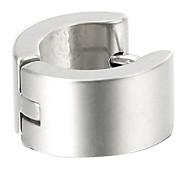 presente para namorado moda pequenas (redondo) brincos de aço titânio prata (1 pc)