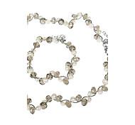 Элегантный жемчуг с ониксом ожерелье и браслет др