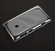 Pure Pattern Transparent Plastic Hard Back Case Cover for Nokia Lumia 520