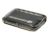 USB 2.0 All-in-1 Memory Card Reader (Black)