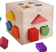 Baby  Educational Toys Wooden Colorful Shape Block Box