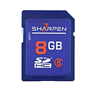 SHARPEN High Speed Flash Memory SD SDHC Card Class 6  8GB  -Blue