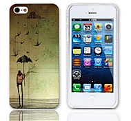 Cartoon Design Back Case with 3-Pack Screen Protectors for iPhone 5/5S