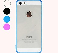 Conception Transparent Hard Case pour iPhone 5/5S Durable (couleurs assorties)