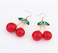 Cherry Alloy Drop Earrings
