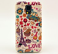 Love Eiffel Tower Pattern TPU Soft Case Cover for Samsung Galaxy S5 I9600
