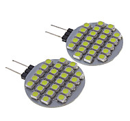 G4 1W 100-150Lm 24-Led Car Bulbs-White(12V)