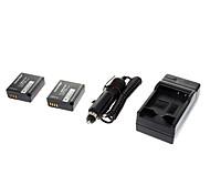 ismartdigi-Pana BLE9 (2pcs)940mah,3.7V Camera Battery+Car charger for Panasonic GF3 GF5 S6K GF5GK