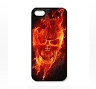 Fire Skull Face Pattern Plastic Hard Case for iPhone 5/5S