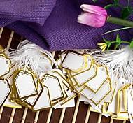 Moda Display de oro etiquetas de precio (de oro) (500pcs)