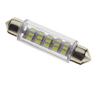 Festoon 1W 80-100Lm 4 Led Car Lâmpadas-White (12V)