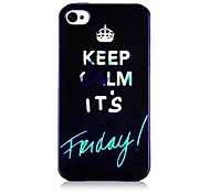 Crown Pattern Silicone Soft Case for iPhone4/4S