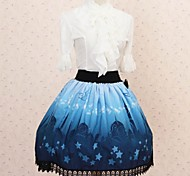 Pretty Lolita Moonlight Aladino Castillo Princess Kawaii Falda encantadora Cosplay
