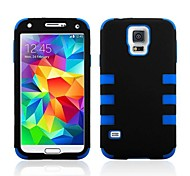 3-in-one Hit Color Design Silicone and PC Material Back Cover Protective Shell for Samsung Galaxy S5 i9600