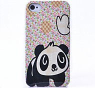 Floral Panda modello posteriore Case for iPhone 4/4S