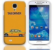 Taxi Driver Pattern Hard Case with 3-Pack Screen Protectors for Samsung Galaxy S4 mini I9190