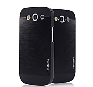 PC with Metal Wire Drawing and Black Frame Back Case for Samsung Galaxy S3 i9300(Assorted Color)