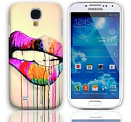 Lip Design Hard Case with 3-Pack Screen Protectors for Samsung Galaxy S4 mini I9190