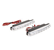 2PCS 8 SMD LED Super Bright White DRL Car Daytime Running Light