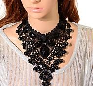Женский Ожерелья-бархатки Ожерелья с подвесками Ожерелья-цепочки Кристалл Башня Драгоценный камень бижутерия Бижутерия Назначение Для