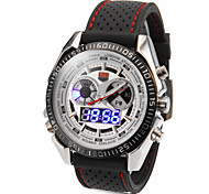 Men's Multi-Functional Round Dial Silicone Band Quartz Analog Sport Watch (Assorted Color)