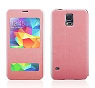 Janela exibe o couro caso de chamadas de entrada PU para Samsung Galaxy i9600 S5
