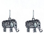 Hollow Elephant Drop Earrings