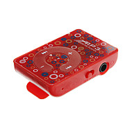TF Card Reader Mini Portable Flower Pattern Digital MP3 Player with Clip