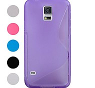 S-förmige Modell TPU Tasche für Samsung Galaxy i9600 S5 (verschiedene Farben)