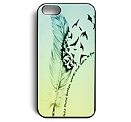 Elonbo J2B41 Quill-pen Design Hard Back Case Cover for iPhone 4/4S