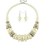 Women's Imitation Pearl Jewelry Set Non Stone