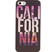 Letters and Landscape Design PC Hard Case for iPhone 5/5S