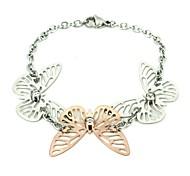 Fashion Women's 316L Stainless Steel Butterfly Bracelet