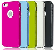 MAYLILANDTM Thin Gel TPU Back Cover Case for iPhone 5/5S (Assorted Colors)